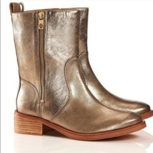 Gold Tory Burch Boots